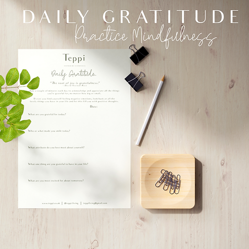 Printable Daily Gratitude Journal