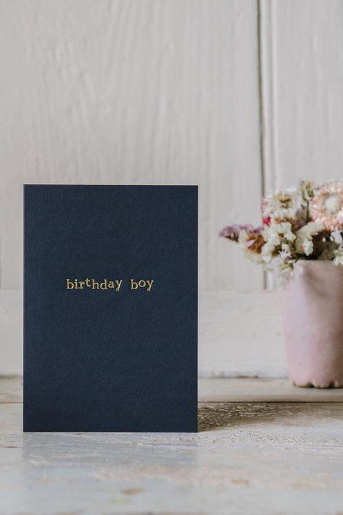Birthday Boy // Foiled Card