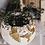 Thumbnail: Gold leaf and rose quartz crystal rim pot