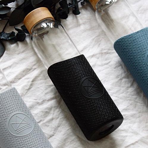 Reusable Glass Bottle - Rock Star (Black)