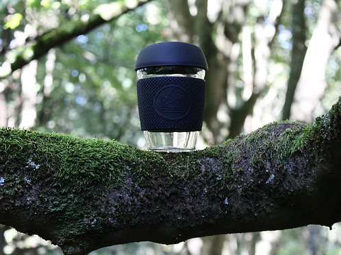 Reusable Glass Coffee Cup - Rock Star (Black)