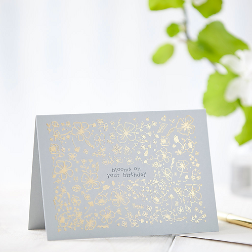 Blooms On Your Birthday // Foiled Card
