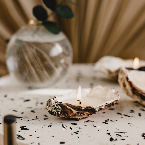 Natural Oyster Shell Candle