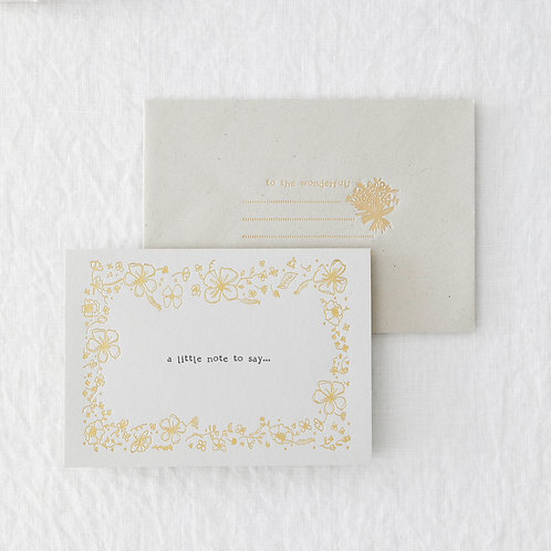 A Little Note To Say // Foiled Card