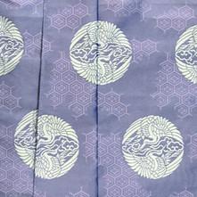 NKGC-02 紫 散し亀甲に雲鶴
