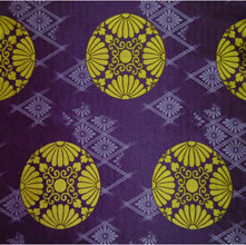 KG-10-1 散し菊菱襷に菊不仙 古代紫