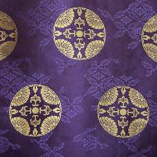 KG-26-1 散し小葵に臥蝶 古代紫