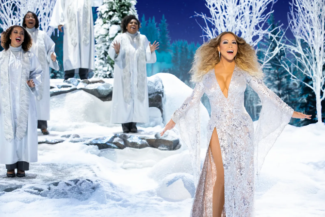 ICYMI: A Closer Look at Mariah Carey's Festive, Fabulous Fashion For Her Holiday Special