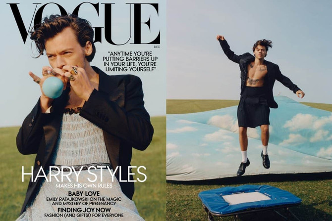 HARRY STYLES BECOMES THE FIRST MAN TO STAR ON VOGUE'S COVER IN 127 YEARS