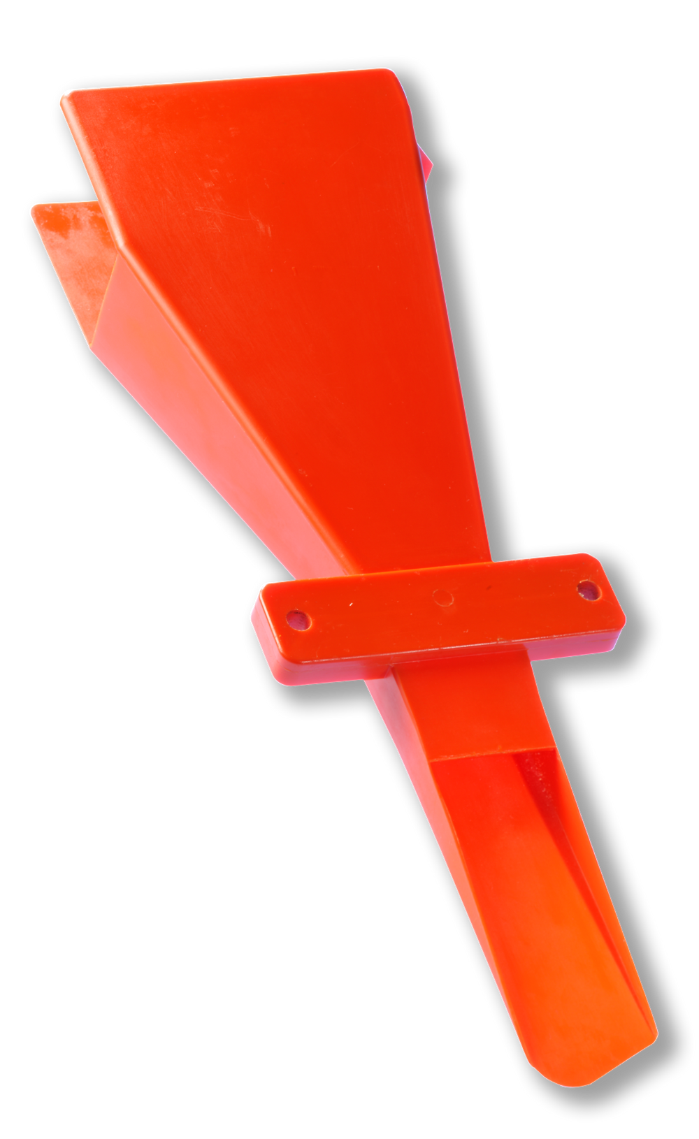 Second generation, a polyurethane molded funnel.