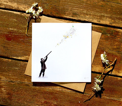 'Over' Greetings Card