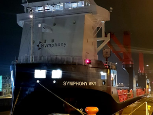 Symphony Sky in Brunsbüttel Lock during her passage to Tallinn, Estonia
