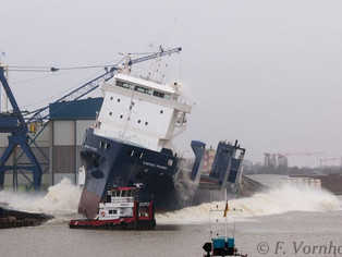 Here she comes! Launch of the Symphony Provider at Ferus Smit Shipyard (Leer, Germany)