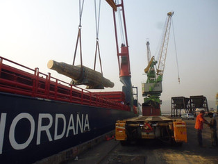 mv Nordana Sky - Discharging at Visakhapatnam (India)