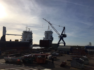 Sneak preview of mv Symphony Spirit @ Ferus Smit Shipyard, Leer (Germany)