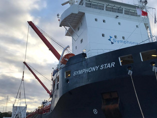 Symphony Star discharging in Malta