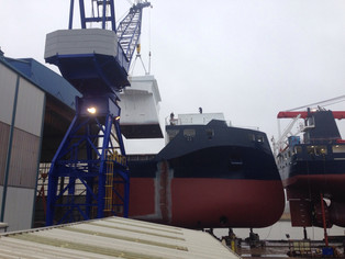 mv Symphony Sun - Launch at the Ferus Smit yard in Leer - April 29th 2016.