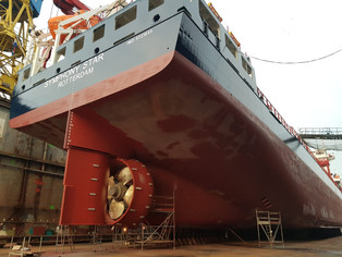 Symphony Star finished her first overhaul @Klaipeda, Lithuania