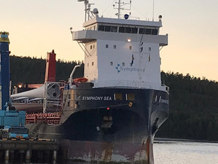Symphony Sea arrived in Kopmanholmen to discharge her cargo