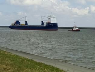 mv Symphony Provider as she arrives @ Eemshaven (The Netherlands) for her seatrials