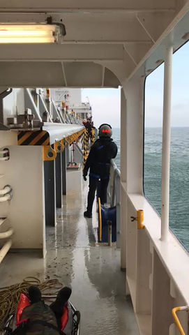 On Symphony Spirit not only the cargo being delivered, but SAR is being supported in their training