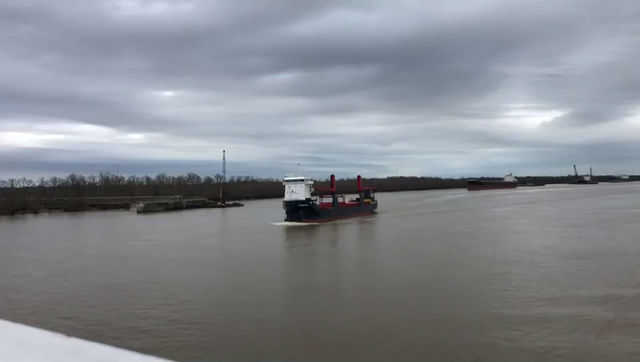 Symphony Sky on Mississippi River approaching New Orleans
