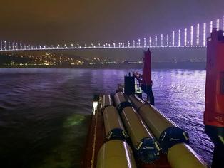 Symphony Sky passing the Bosphorus Strait.