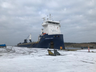 Last weekend Symphony Spirit was spotted at Lubmin. Picture capt. of Symphony Spirit