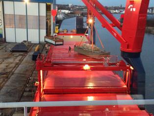 mv Nordana Sea - Load testing cranes