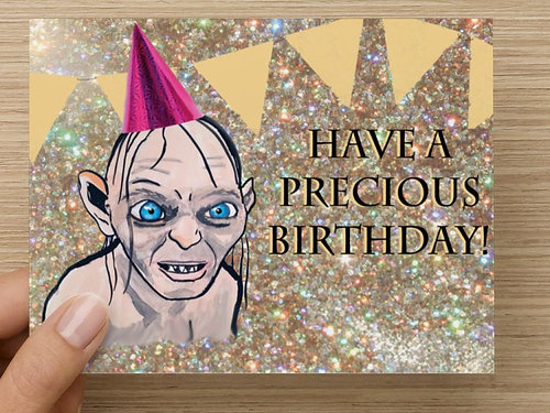 cards GollumSmagol Lord of the Rings Birthday Card