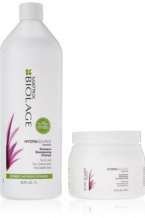 Biolage Hydrasource Shampoo & Conditioner Liter Duo