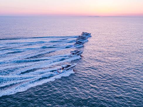 Luxury Yacht aerial drone filming UK