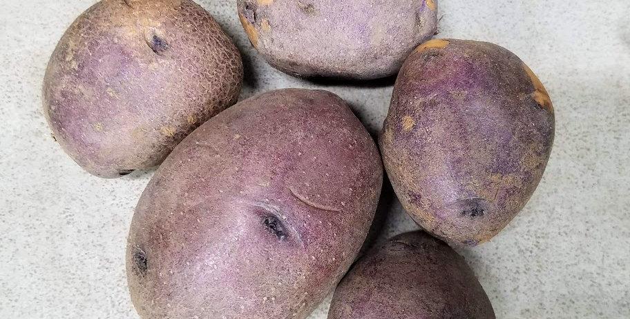 Peter Wilcox (Purple Sun or Blue Gold) Potatoes - 1lb