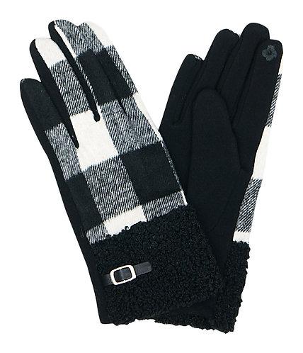 Buffalo Plaid Smart Touch Fashion Gloves