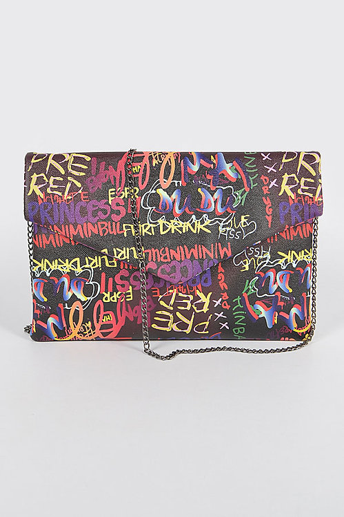 Graffiti Envelope Clutch