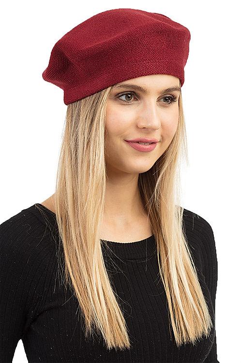 Stylish Stretch Fashion Beret burgundy
