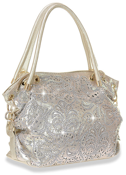 Ring Accented Layered Shoulder Bag