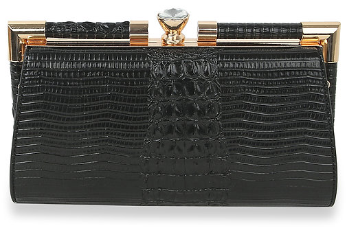 Embossed Clutch Evening Bag