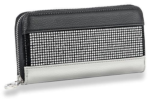 Sparkling Stone Accordion Wallet Black