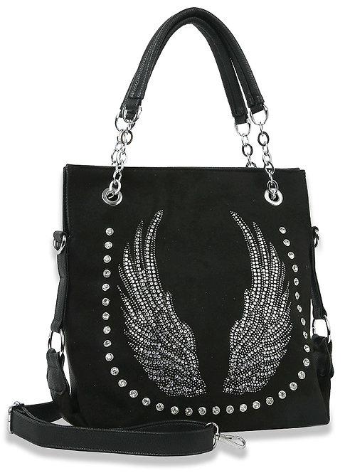 Rhinestone Wing Fashion Shoulder Bag