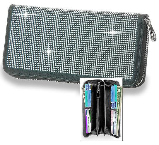 Dazzling Accordion Wallet Black