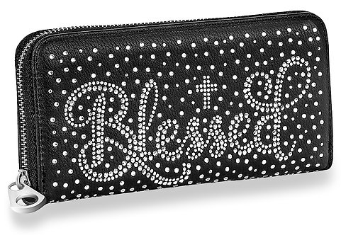 Blessed Rhinestone Bling Accordion Wallet