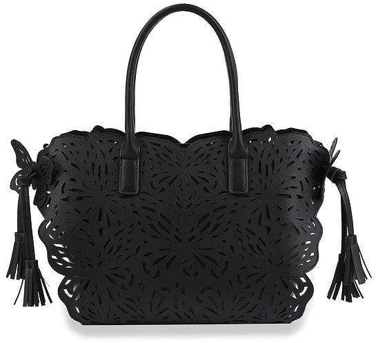 Laser Cut Butterfly Design Fashion Handbag