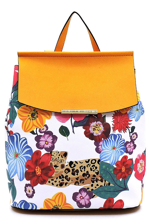 Flower Leopard Convertible Backpack
