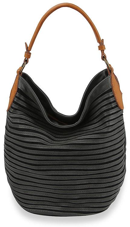 Pleated Design Large Hobo Handbag