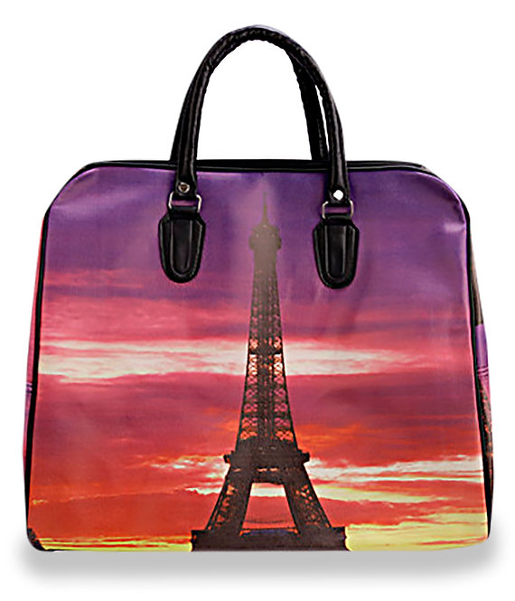 Eiffel Tower Travel Print Overnight Bag