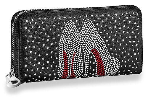 High Fashion Heels Rhinestone Accordion Wallet