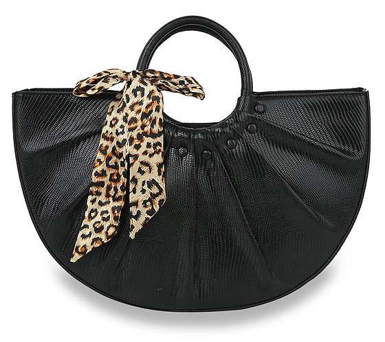Leopard Accent Modern Hand Tote
