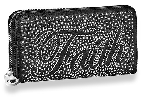 Faith Rhinestone Bling Accordion Wallet