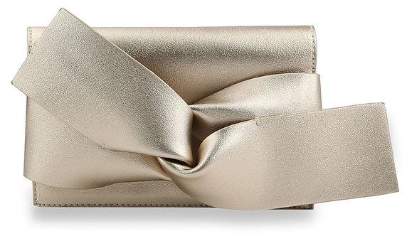 Modern Bow Clutch Evening BagGold